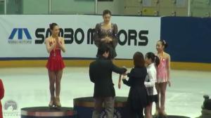 YUNA KIM 2013 Korea National Championship Victory Ceremony
