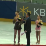 Yu-Na Kim Receives Gold Medal at the 2013 Korea National Championship Victory Ceremony